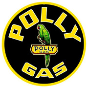 Large Vintage Style 24 Polly Embossed Gas Station Signs Man Cave Garage Decor