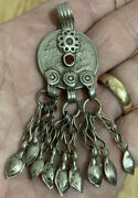 Rare Vintage 1948 Pakistan Rupee Coin Converted Into Dangly Jewelry Pendant
