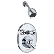 Delta Jetted Shower Trim And Valve T1824 Chrome Color Like T18240/t18230/t18255
