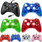 Wired Xbox 360 Controller Gamepad For Microsoft Xbox 360/ Pc Windows 10 8.1 8 7