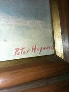 Peter Hayward Quiet City 4601 Framed 21.5 X 15.5 Vintage Lithograph Print