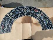 Great Medieval Mayer Of Munich Church Antique Stained Glass Arch Way - O5432