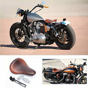 Aligator Motorcycle Brown Spring Solo Seat For Harley Davidson Dyna Fat Bob Fxdf