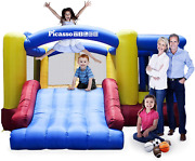 [upgrade Version] Picassotiles Kc102 12x10 Foot Inflatable Bouncer Jumping Bounc