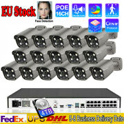 16 Channel Cctv Poe Nvr 5mp Wired Home Ip Smart Ir Surveillance Camera System