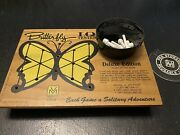 1976 Vintage Deluxe Edition Original I.q Tester Wood Puzzle Game Butterfly Usa