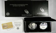 2018 Ww1 World War One Proof Silver Dollar 2 Coin Medal Set - Marine Corps