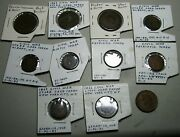 Large Lot Of Civil War Tokens And Hard Times Tokens Medal Cwt Rare L@@k