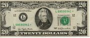 Usa 20 Dollar Banknote 1977 Star Note As Pictured