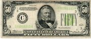 Usa 50 Dollar Banknote 1934 As Pictured