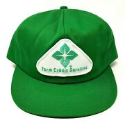 Vintage K Products Farm Credit Snapback Patch Trucker Hat Cap Advertising
