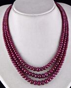 Natural Untreated Ruby Beads Round 3 Line 602 Carats Gemstone Ladies Necklace