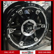 20x9 Kmc Xd840 Spy 2 6x5.5[139.7] Gloss Black Machined Wheel And 33 Tire Package