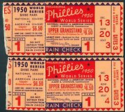 1950 World Series Phillies 2 Seats Next To Each Other Rare Gfcc