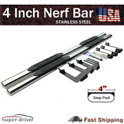 For 2005-2020 Toyota Tacoma Double Cab 4 Chrome S/s Nerf Bars Side Step Boards