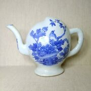 Antique Chinese Blue And White Porcelain Teapot 18th-19th Century.