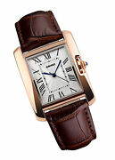 Womens Watches Rose Gold Case Roman Numeral Wristwatch Square Brown