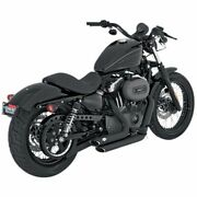 Vance And Hines Shortshot Staggered Black Exhaust System Harley Sportster 04-13