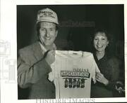 1987 Press Photo Indiana Hoosiers Fans Michael And Brenda Wilson In New Orleans