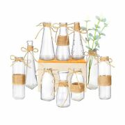 Nilos Glass Vases Set Of 10 Clear Glass Flower Vase With Rope Design And Dif...
