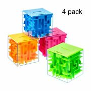 4 Pieces Money Holder Maze Puzzle Gift Box A Fun Unique Way And Brain Teaser...