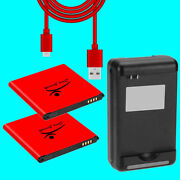 High Grade 2x 6270mah Battery Wall Charger Usb Cable For Samsung Galaxy S4 S970g