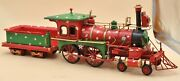 Vintage European Finery Toy Trains Steam Engine And Carriage Xmas Gift Decor Sale