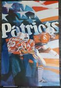Vintage Official 1971 Nfl New England Patriots Poster George Bartell 24x36