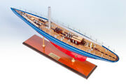 Endeavour J Class Yacht Wooden Model Ship Boat Sailboat Gift - Special Edition