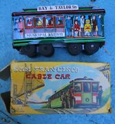Vintage 1960 San Francisco Cable Friction Car In Box 5.5l X 2 T X 2 W Japan