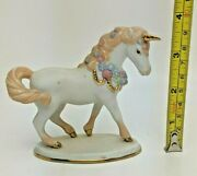 The Collector's Treasury Of Unicorns Pastel Porcelain Unicorn The Franklin Mint