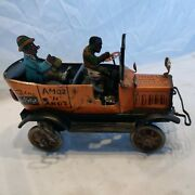 Rare Old Vintage Louis Marx Wind Up Fresh Air Taxi Cab Working Condition 1930s
