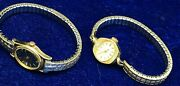 Vintage Ladies Gold Tone Watches - Timex And Waltham Nw