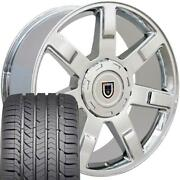 Chrome 22x9 5309 Wheel And Goodyear Tire Fits Chevy Gmc Cadillac