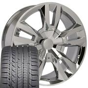 22x9 Wheels Fit Chevy Tahoe Suburban Rst Chrome Ironman Gy Tires 5821 W1x
