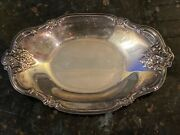 """International Silver Company 448 Antique/vintage Candy Plate/dish. 8.5""""x 5.5"""""""