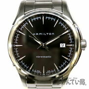 Hamilton H326651 Jazzmaster Automatic Stainless Steel Black Dial Menand039s Watch