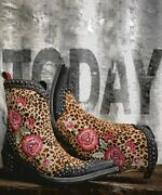 Ddbl069-1 Double D Ranch Del Rio Hair Hide Floral Embroidered 7 Leather Boots