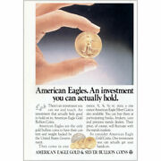 1987 American Eagle Gold Bullion Coins Actually Hold Vintage Print Ad