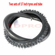 2x Front 70/100-17 Tyre + Tube 2.75-17 For Pit Dirt Trail Bike Honda Ct70 Ct90