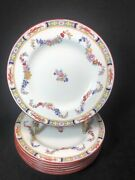 Minton China Set Of 7 Minton Rose Floral Swags Bread Plates 6 1/8andrdquo 11d