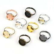 30pcs/lot Adjustable Blank Ring Base Fit Dia 8mm-25mm Cabochons Cameo Settings