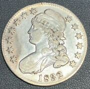 1832 Capped Bust Lettered Edge Silver Half Dollar