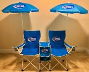 Unique Bud Light Two Chair With Umbrellas, Speakers And Cooler Mobile Beach