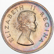 1960 South Africa 1 Penny Beautiful Light Color Toned Luster Unc Bu Prime Mr