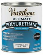 Varathane 262074 Clear Matte Water-based Polyurethane Finish 1 Qt. Pack Of 2
