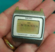 Seiko M154-5009 Quartz Lc Cronografo Vintage Year Month-made In Japan Not Tested