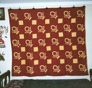 Baskets Quilt 66 X 76, C.1920's, From The Ontario,canada Amish Community.