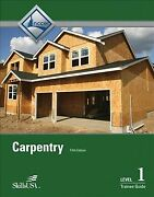 Carpentry Level One Trainee Guide, Paperback By Nccer Cor, Like New Used, F...