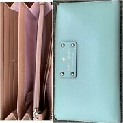 Kate Spade Wellesley Neda Zip All Around Clutch Wallet Mint Green Mojito